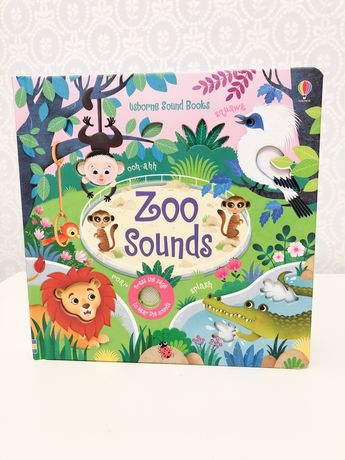 Zoo Sounds Usborne,книга игрушка со звуками