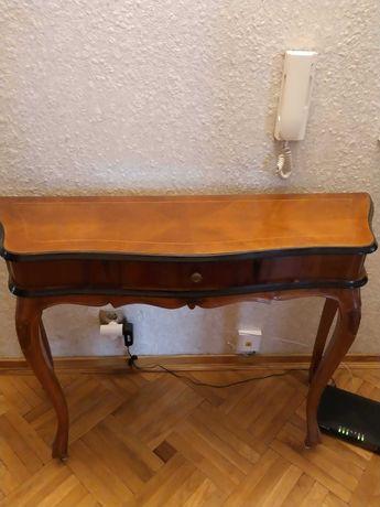 Konsola drewniana, stylizowana z szufladką, komoda