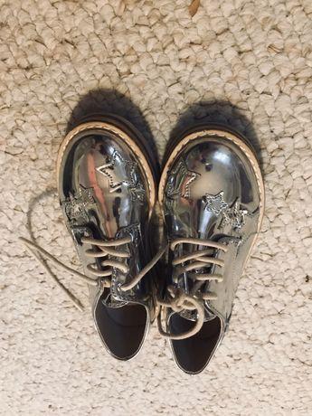 Buty srebrne dziewczęce rozmiar 28