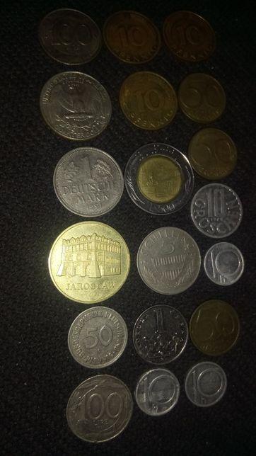 Zestaw Monet z różnych krajów