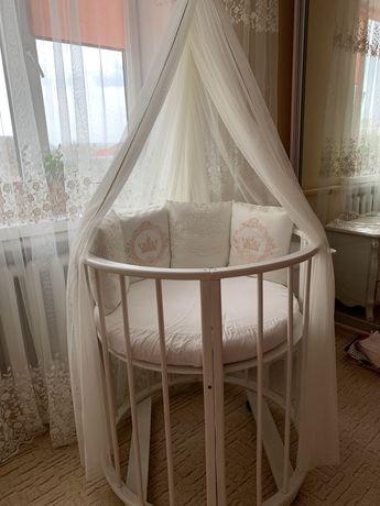 Кроватка детская круглая ліжечко дитяче кругле
