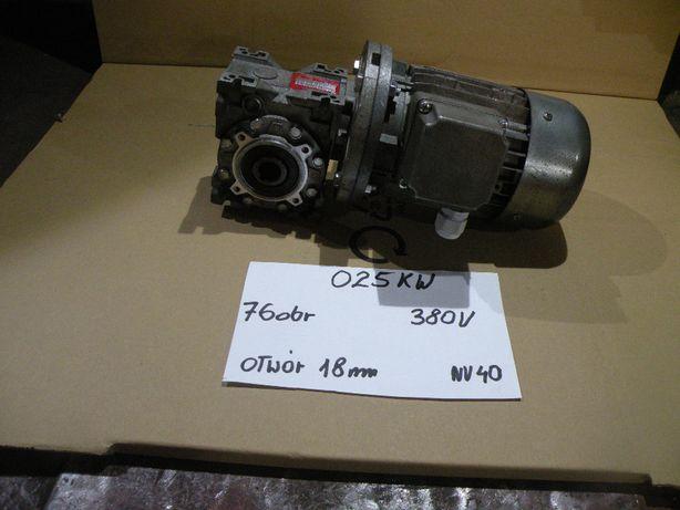 motoreduktor przekładnia slimakowa025 kw 76 obr 380v
