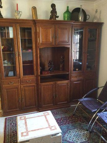 Móvel três módulos madeira maciça 80 / 210 cm cada Antigos
