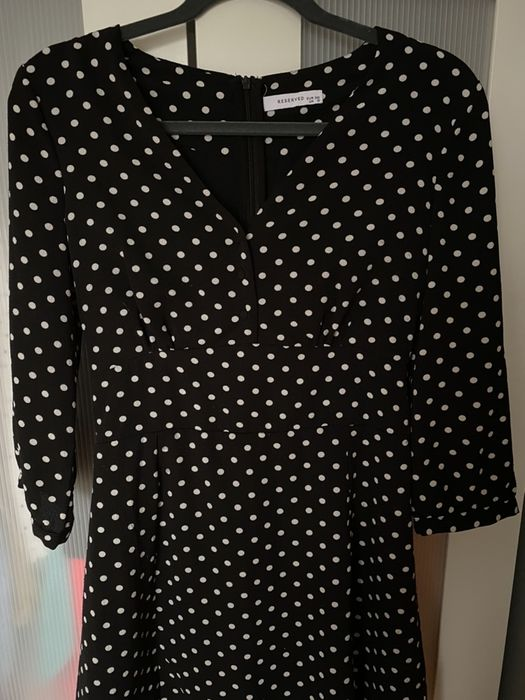 Sukienka  czarna w kropki 38 Sieradz - image 1