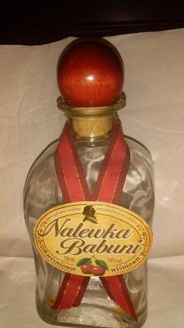 Бутылка экслюзивная стеклянная 0,75 л р- р 90х90мм Н=205мм с пробкой