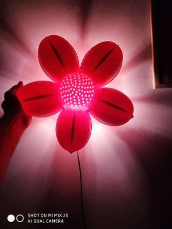 Lampka kwiatek różowa