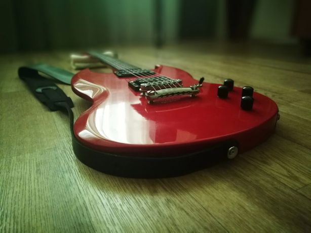 Продаю кастомный Gibson SG Special 1987 3 knob Ferrari Red Ebony