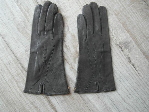 Кожаные женские перчатки / размер 6,5- 7
