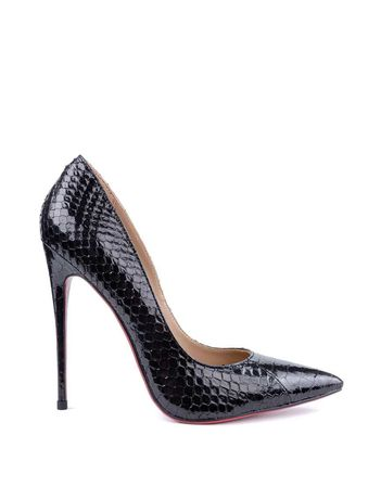 Кожаные туфли лодочки на шпильке змеиная кожа натуральная кожа