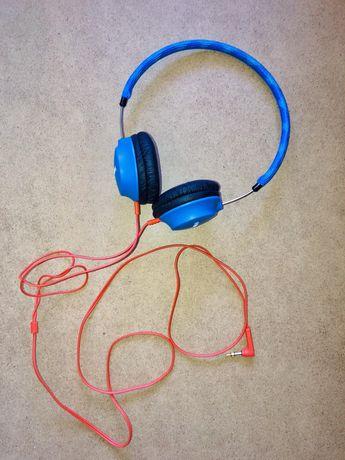 Słuchawki przewodowe nauszne PHILIPS niebieskie pomarańczowy kabel