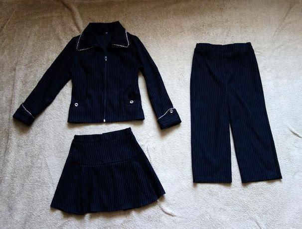 Школная форма (тройка-комплект) 2-3 класс: пиджак + юбка + брюки