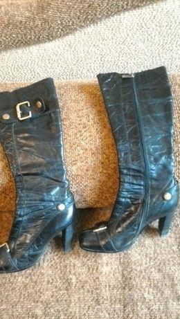 Сапоги кожаные молодежные, на узкую ножку 36-37 р.700руб