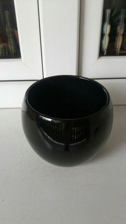 Doniczka osłonka donica ceramiczna czarna nowa