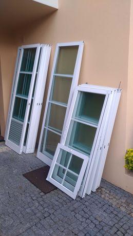 Janelas/portas de correr em alumínio e vidro duplo