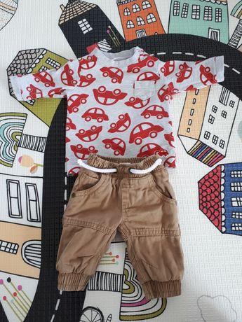 Spodnie F&F bluzka next noworodek