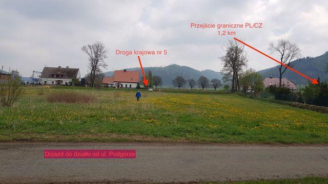 Działka budowlana Lubawka idealne lokalizacja- całość/część