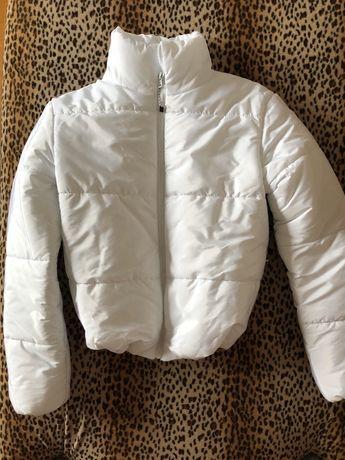 Куртка евро зима, осень, весна белая біла куртка зефірка