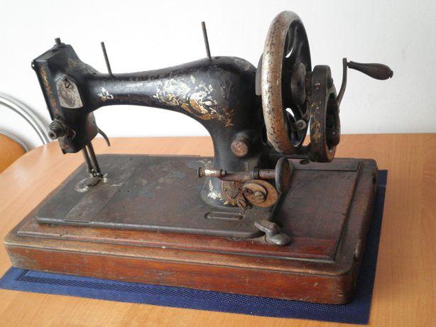Walizkowa maszyna do szycia SINGER na korbę zabytkowa XIX w.