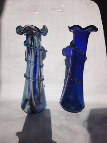 Советские вазы из цветного стекла