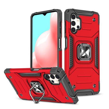 Capa Rígida/Semi Rígida Traseira Wozinsky Ring Case Kickstand Tough Rugged Cover Samsung Galaxy A32 5G Vermelho