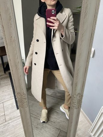 Шерстяное пальто кардиган Zara