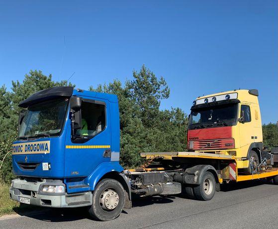 Pomoc drogowa niskopodwozie laweta zestaw Renault midlum jak premium