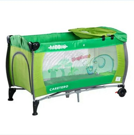 Манеж - кровать Caretero Medio Classic-green,( манєж, кроватка)