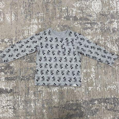 Кофточка футболка реглан GAP с принтом Микки Маус для мальчика на 3-4г