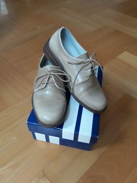 Buty pantofle skórzane r.30