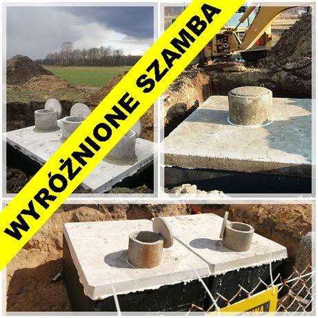 SZAMBO betonowe 12m3 jednokomorowe ZBROJONE PPOŻ Łyski Dobki Gniła