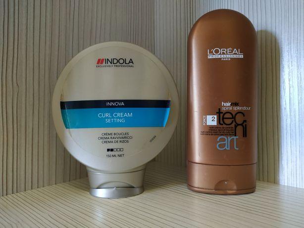 Крем для локонов Indola Innova и Loreal (2 шт)