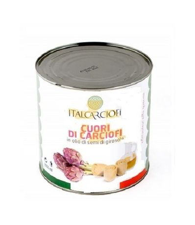 Артишоки серцевины целые в масле Italcarciofi 2500 г