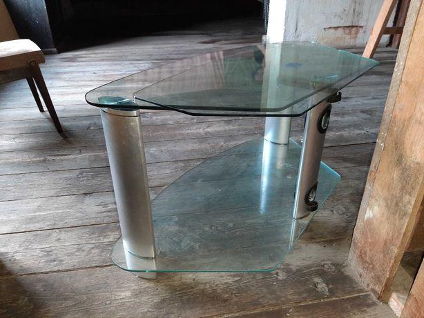 Stolik szklany pod telewizor lub stolik kawowy w bardzo dobrym stanie