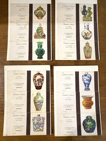 12 caicas de fosforos ceramica chinesa - anos 70