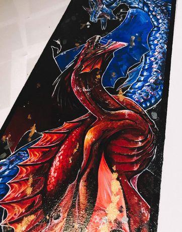 Картина «Танец или противостояние» Драконы.