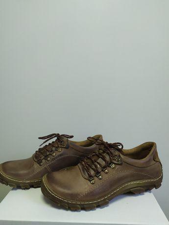 Nowe buty trekkingowe skóra naturalna