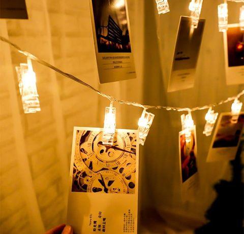 20 led lampka klips sznur spinacz do zdjęć girlanda święta dekoracja