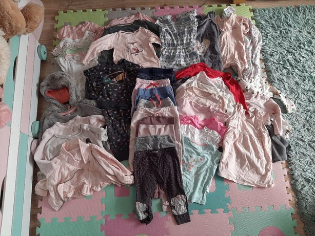 Paczka, zestaw, ubrań dla dziewczynki, rozmiar 80 cm, ubranka