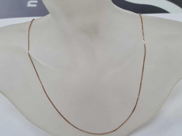 Delikatny złoty łańcuszek damski/ 585/ 1.85 gram/ 50cm