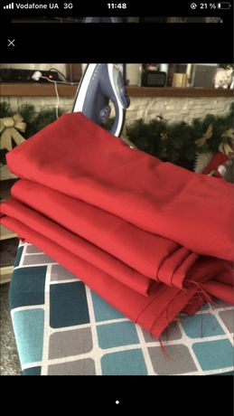 Красная ткань хлопок
