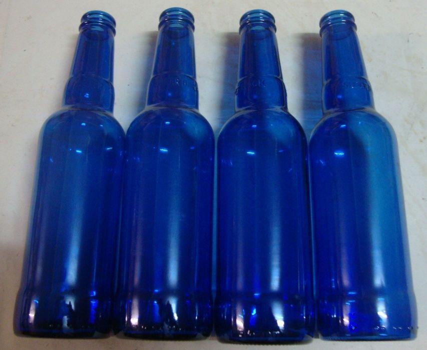 Garrafas azuis 0,33cl