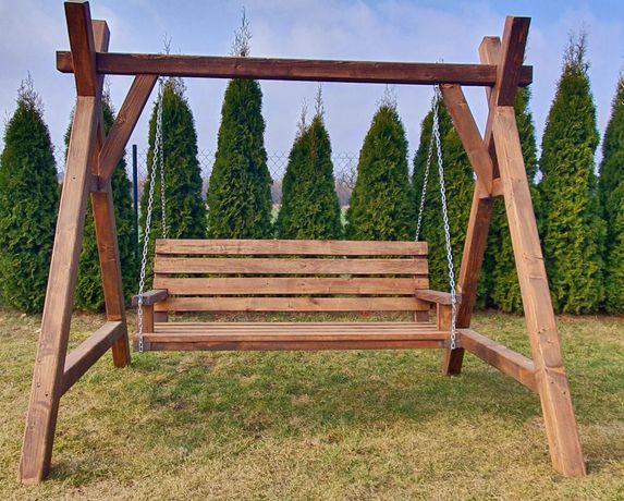 Huśtawka drewniana ogrodowa solidne i fachowe wykonanie.