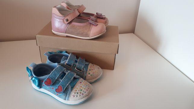 lasocki kids wiosenne półbuty różowe dziewczęce 24 + trampki Nelli Blu