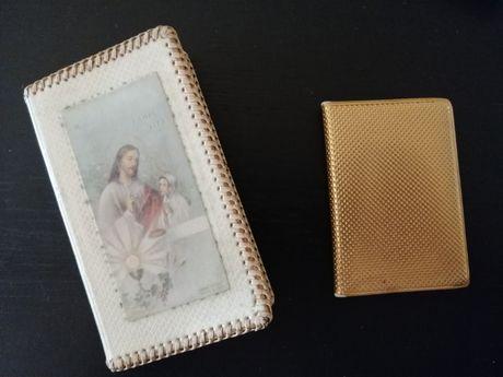 Livro de Missa de 1957 c capa entrançada e Oráculo de Nascimento de 71