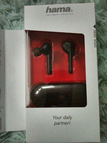 Bezprzewodowe słuchawki douszne hama
