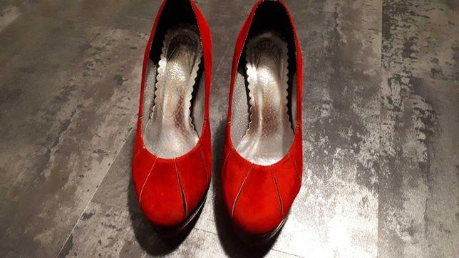 Zamszowe buty rozmiar 37