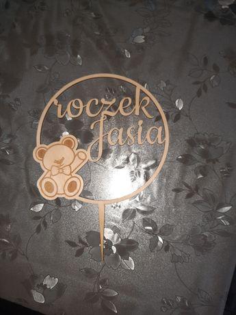 Napis na tort roczek Jasia