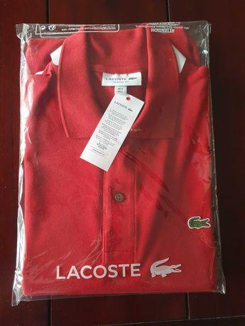 Polo Lacoste Classic Fit - Bordeaux novo