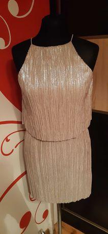 srebrna sukienka Asos S