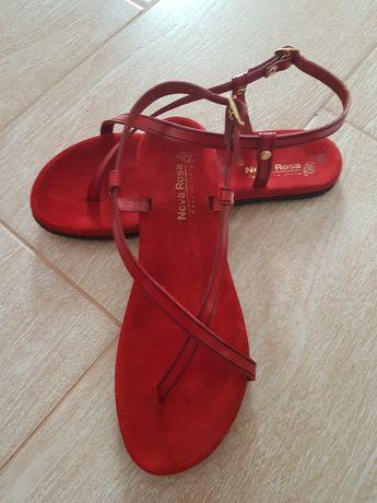 Кожаные сандали летние